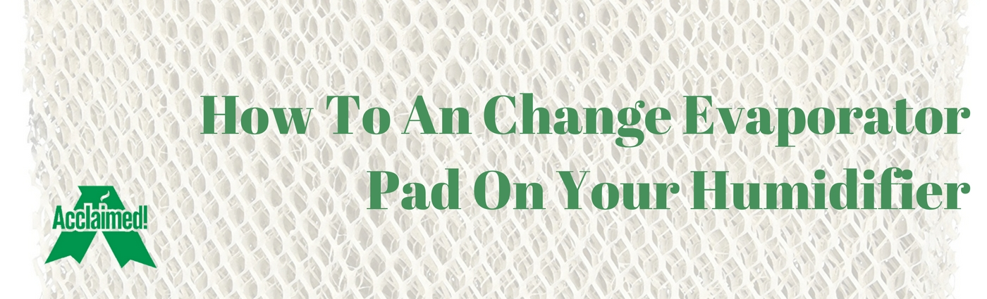 Change Evaporator Pad On Your Humidifier