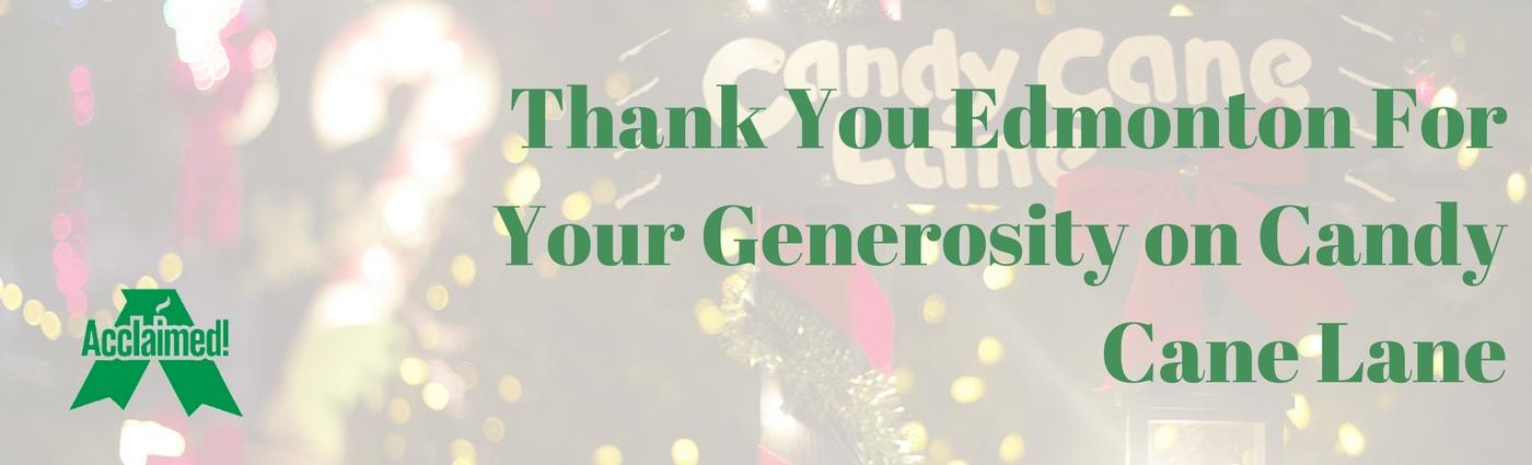 Generosity on Candy Cane Lane