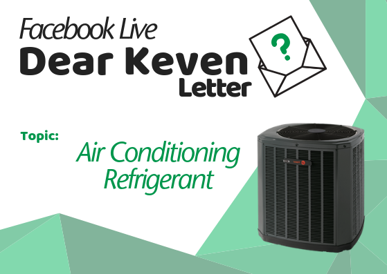 Dear Keven Letter Air Conditioning Refrigerant Keven Lackey