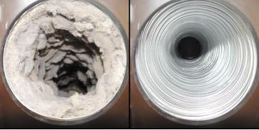 Dryer Vent Lint Before and After