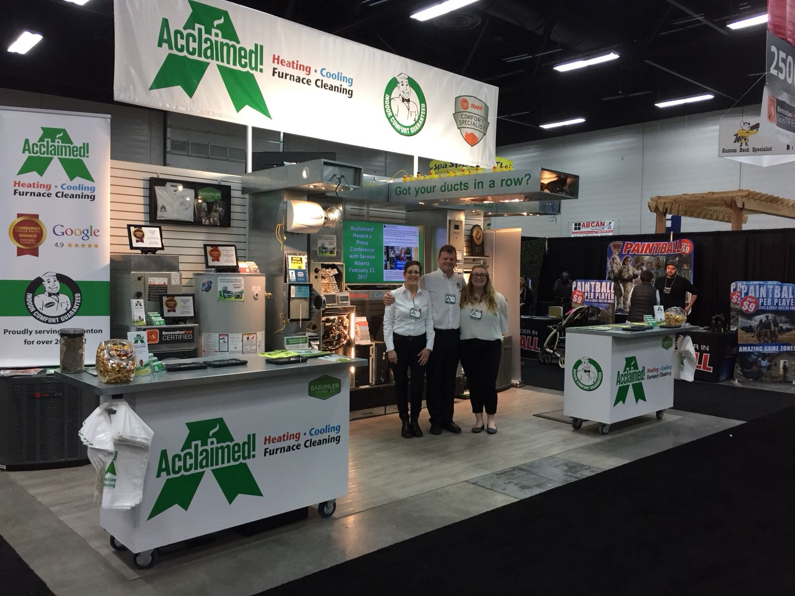Home & Garden Show 2018 Acclaimed! Heating Cooling Furnace Cleaning